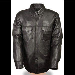 🆕 Milwaukee Black Lightweight Leather Jacket 4XL